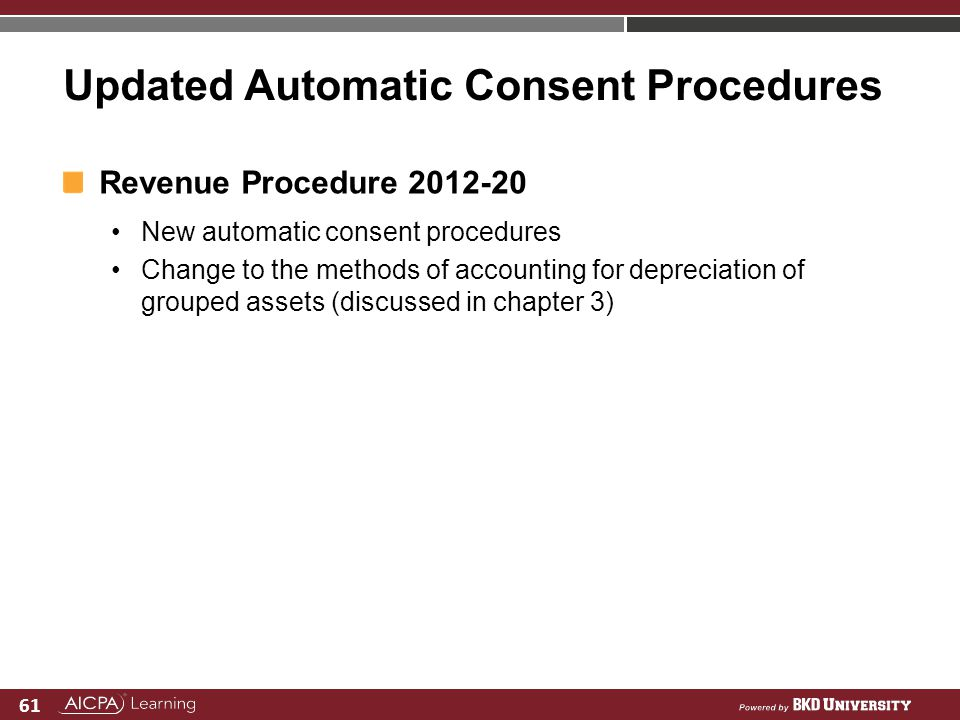 Updated Automatic Consent Procedures