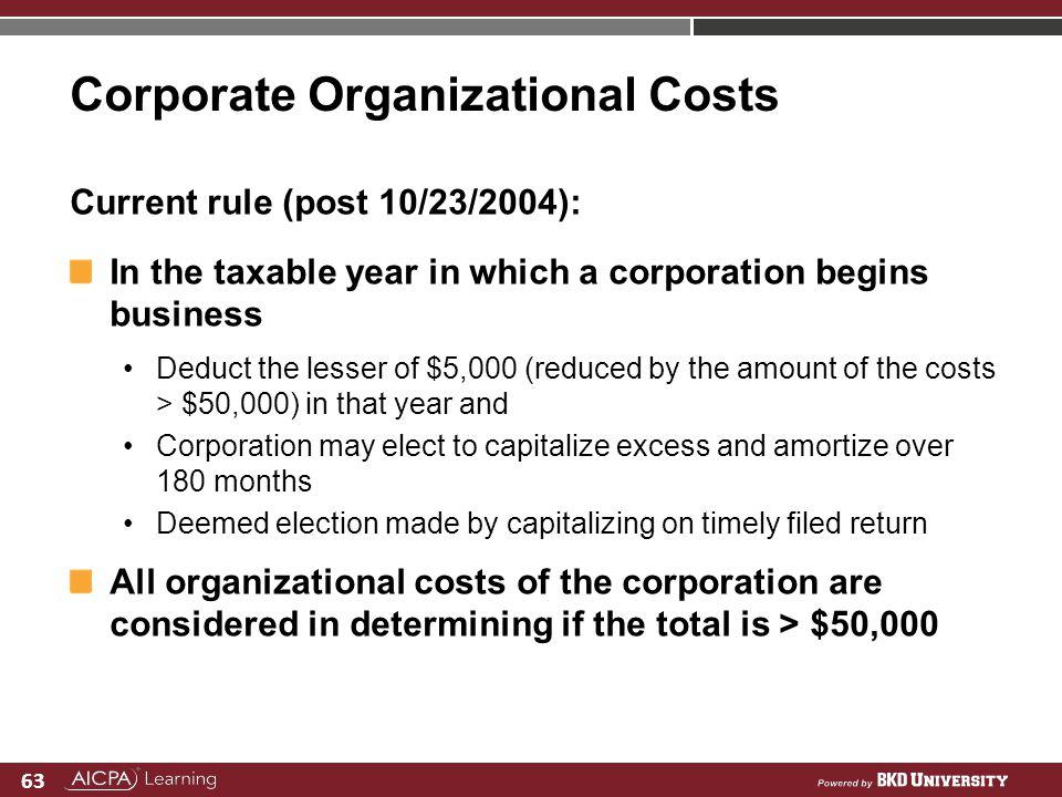 Corporate Organizational Costs