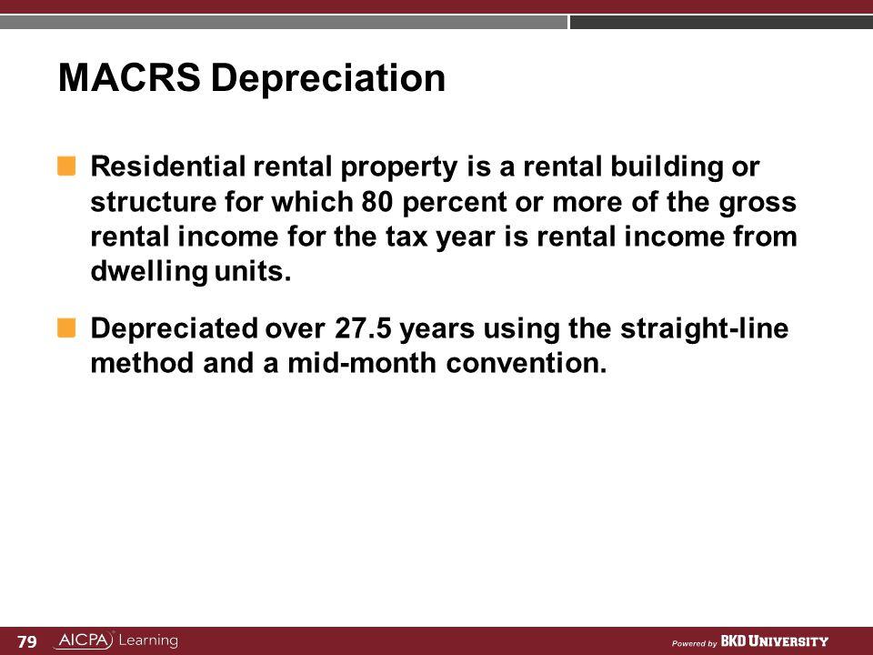 MACRS Depreciation