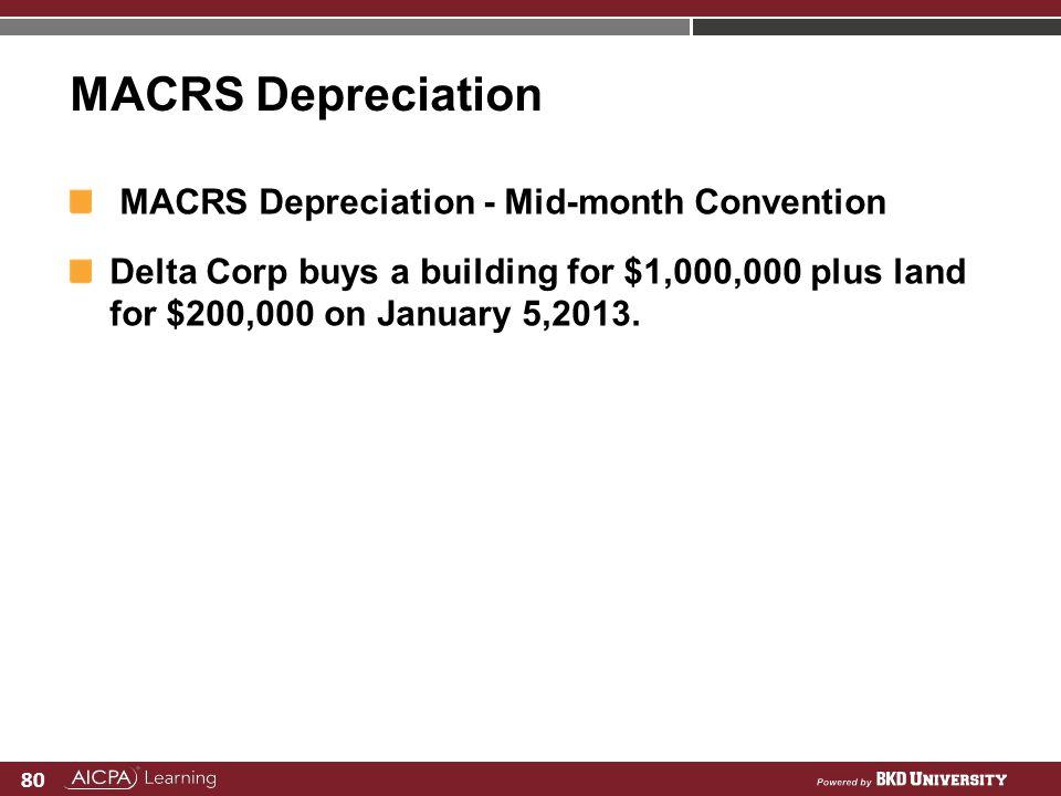 MACRS Depreciation MACRS Depreciation - Mid-month Convention