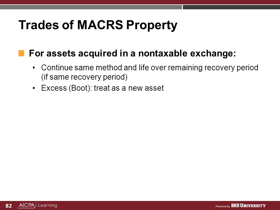 Trades of MACRS Property
