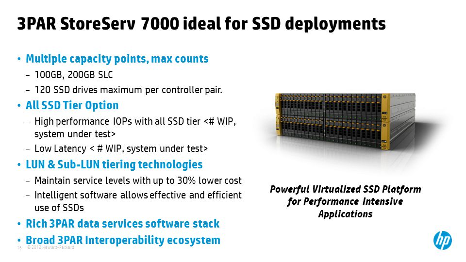 3PAR StoreServ 7000 ideal for SSD deployments