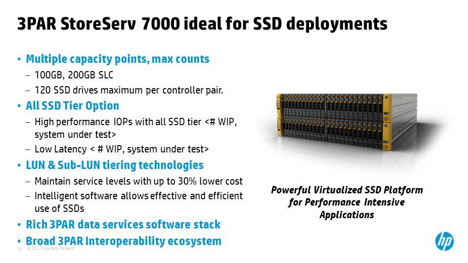 3PAR StoreServ 7000 ideal for SSD deployments