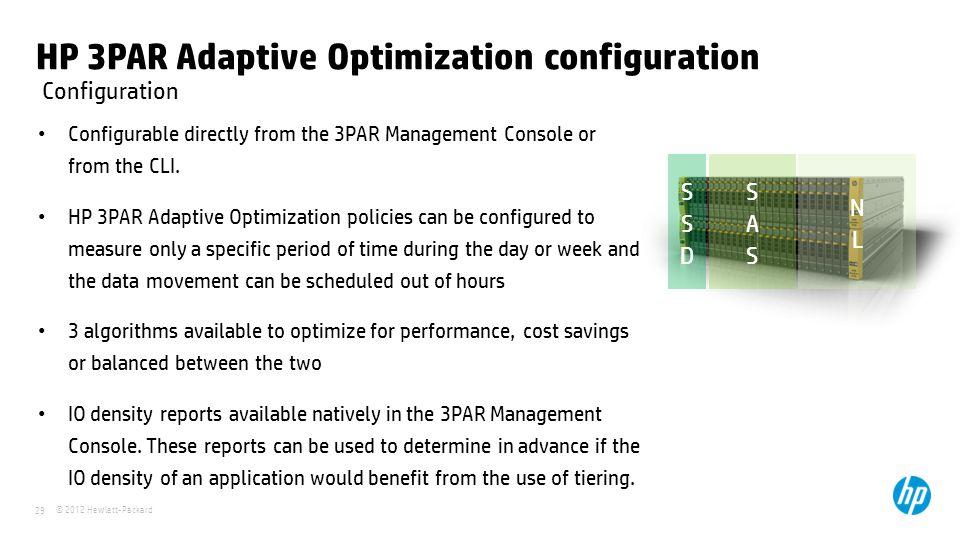 HP 3PAR Adaptive Optimization configuration
