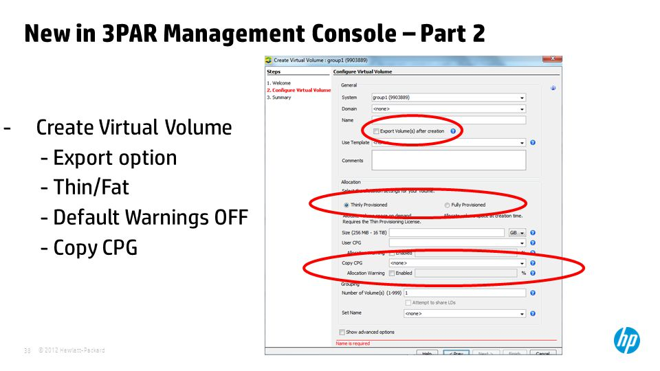 New in 3PAR Management Console – Part 2