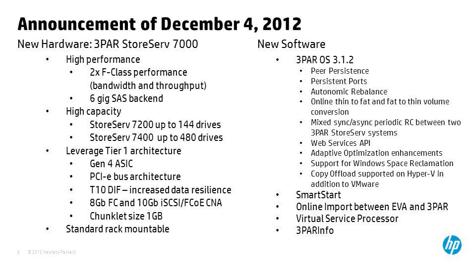 Announcement of December 4, 2012