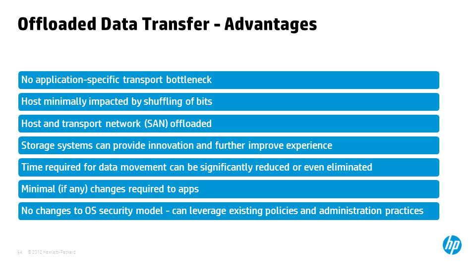 Offloaded Data Transfer - Advantages