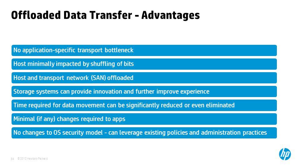 Offloaded Data Transfer - Advantages