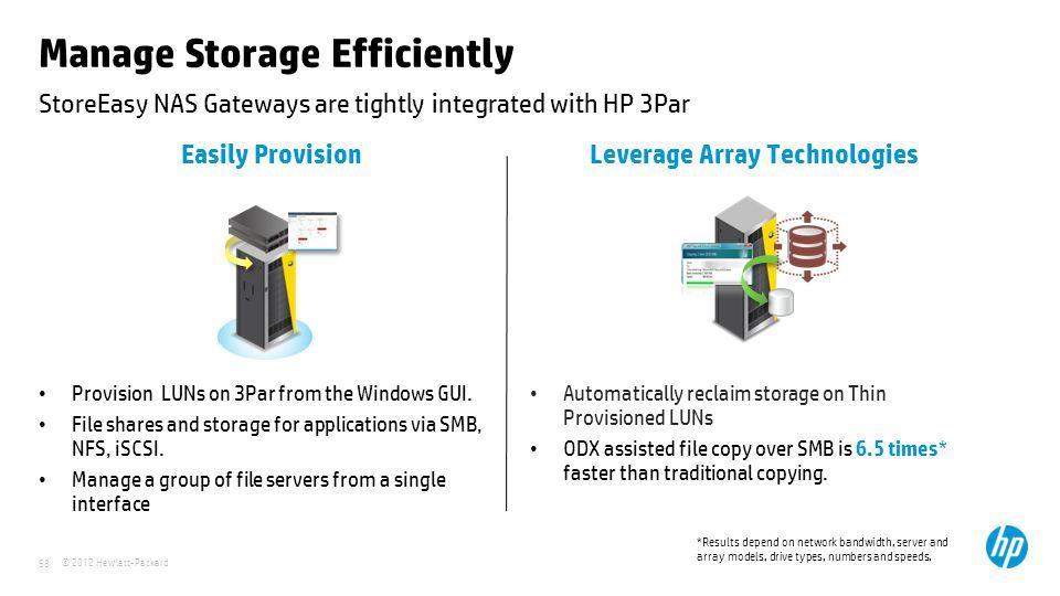Manage Storage Efficiently