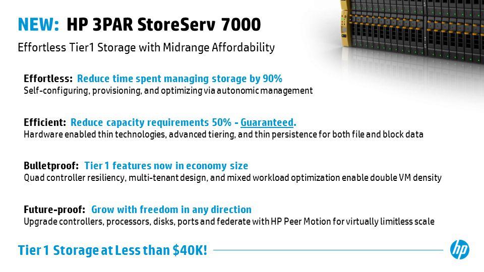 Effortless Tier1 Storage with Midrange Affordability
