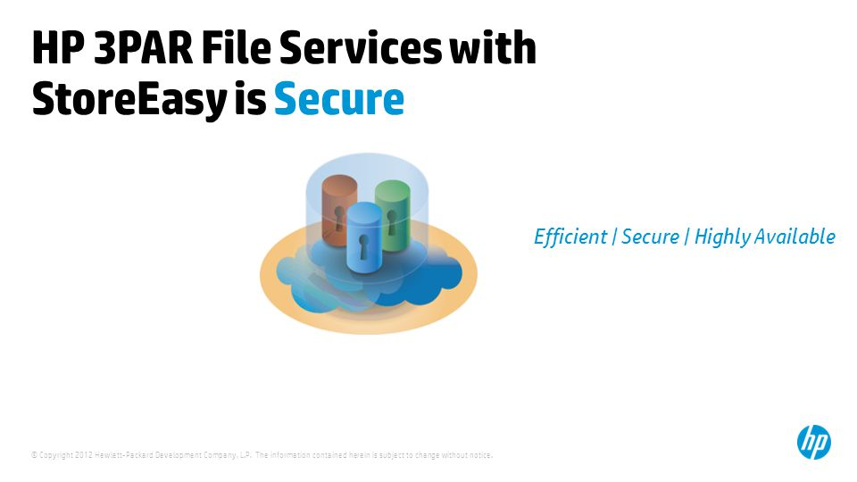 HP 3PAR File Services with StoreEasy is Secure