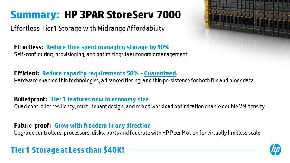 Summary: HP 3PAR StoreServ 7000