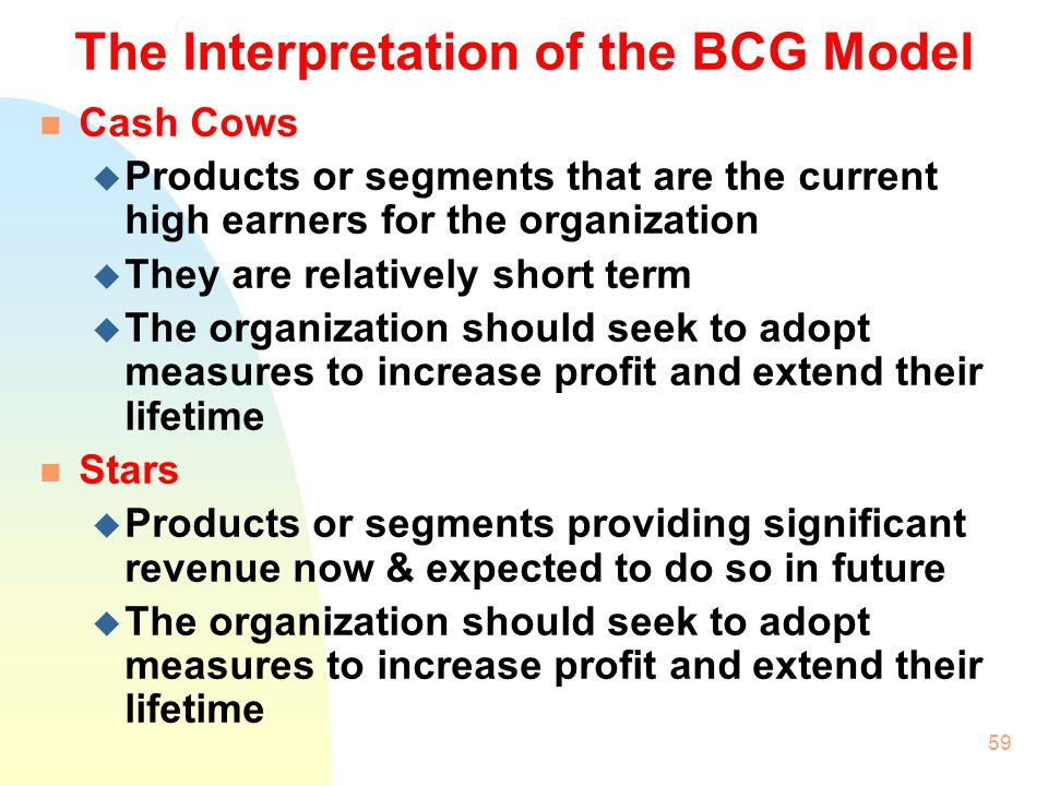 The Interpretation of the BCG Model