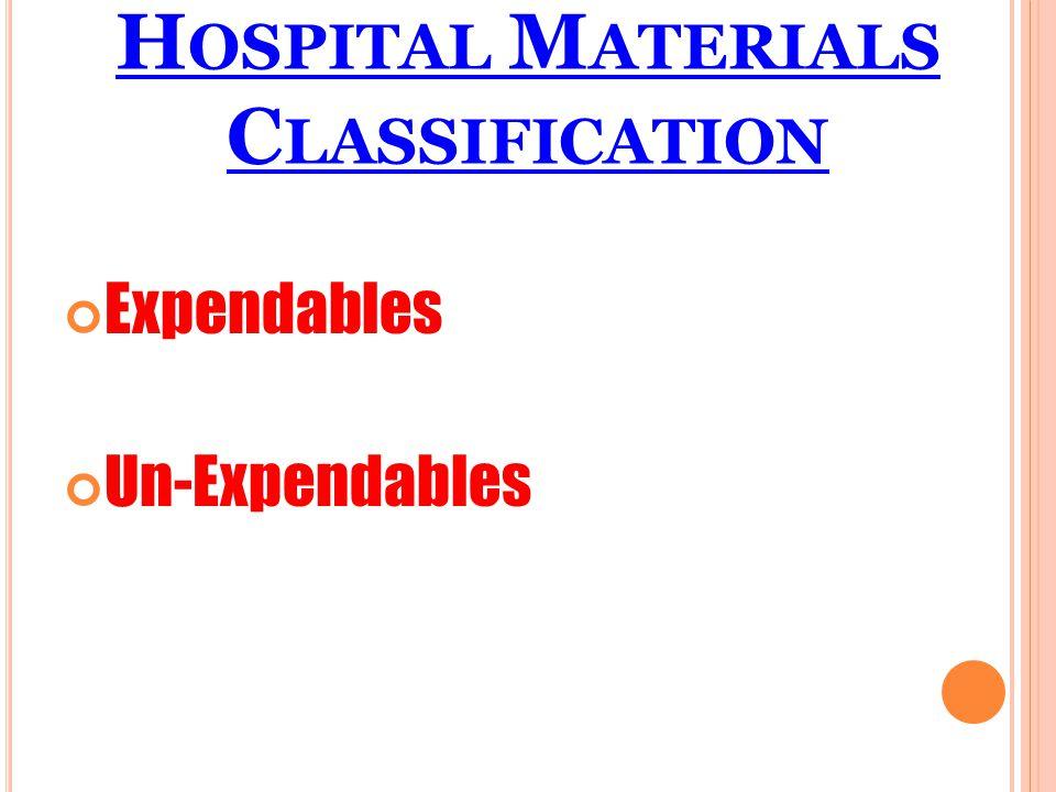 Hospital Materials Classification