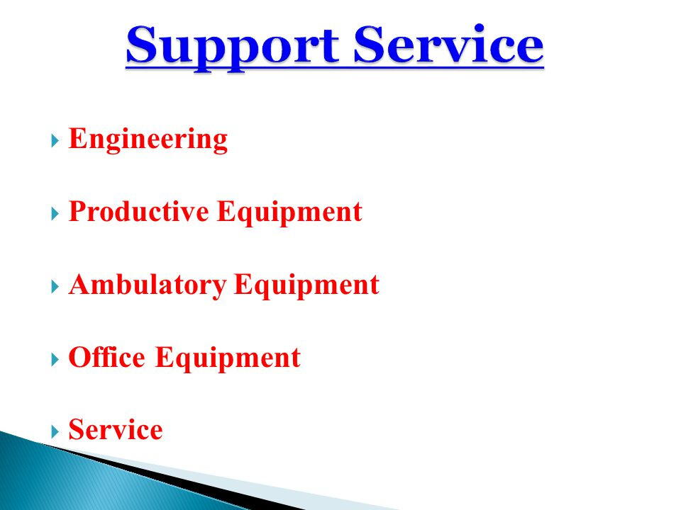 Support Service Engineering Productive Equipment Ambulatory Equipment