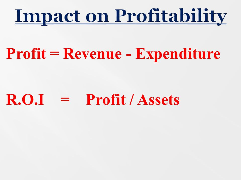 Impact on Profitability