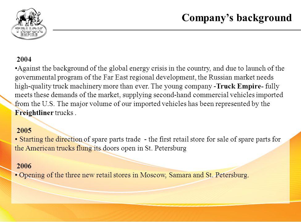 Company's background 2004.