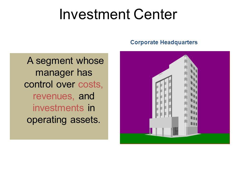 10-109 Investment Center. 10-109. Corporate Headquarters.