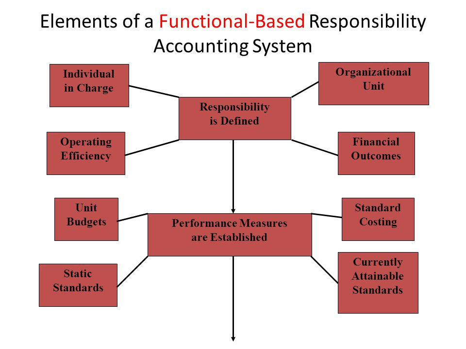 Elements of a Functional-Based Responsibility Accounting System