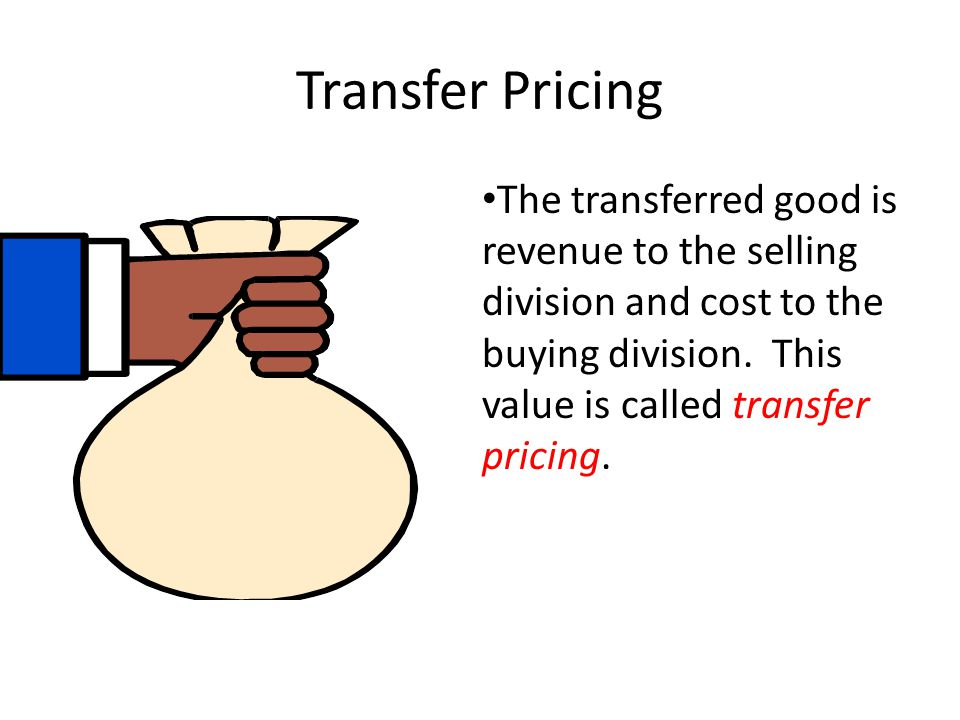 Transfer Pricing The transferred good is revenue to the selling division and cost to the buying division.