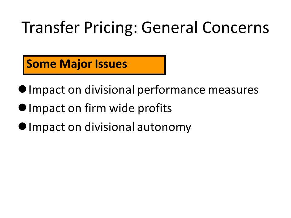 Transfer Pricing: General Concerns