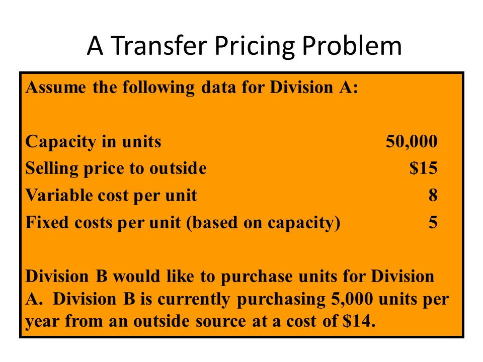 A Transfer Pricing Problem