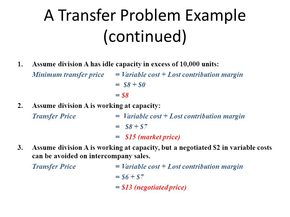 A Transfer Problem Example (continued)