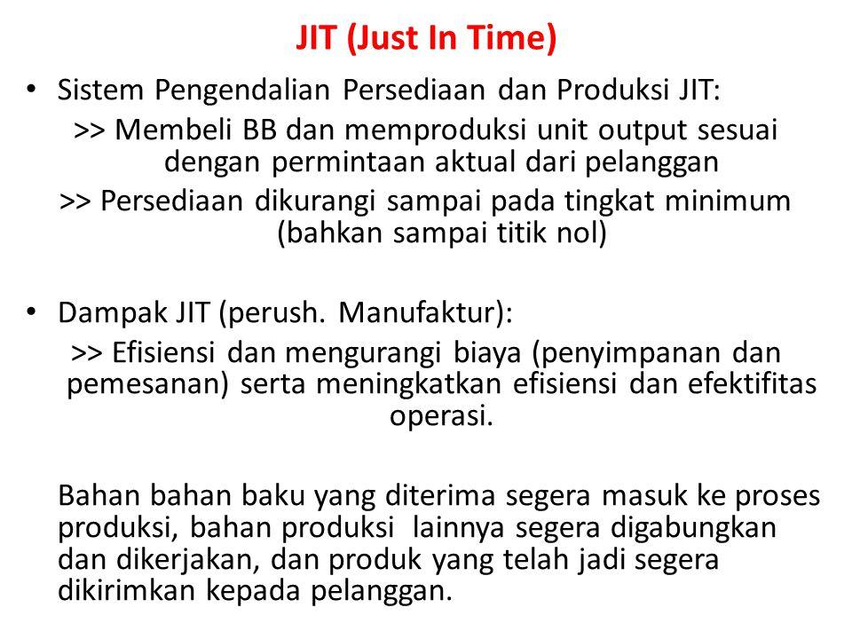 JIT (Just In Time) Sistem Pengendalian Persediaan dan Produksi JIT: