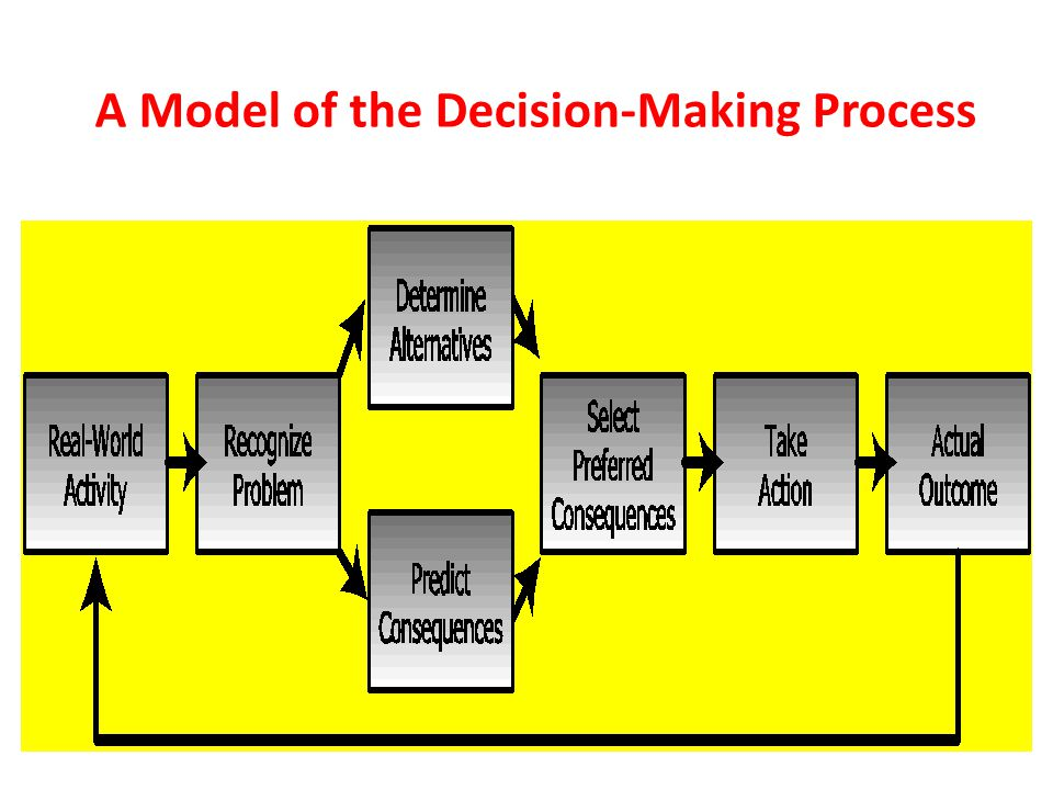 A Model of the Decision-Making Process