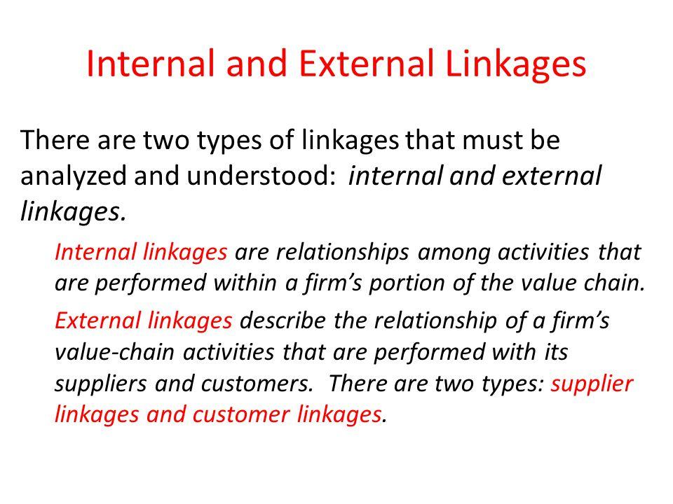 Internal and External Linkages
