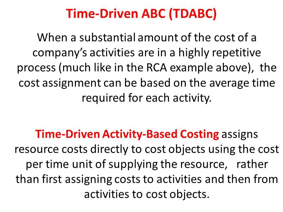 Time-Driven ABC (TDABC)