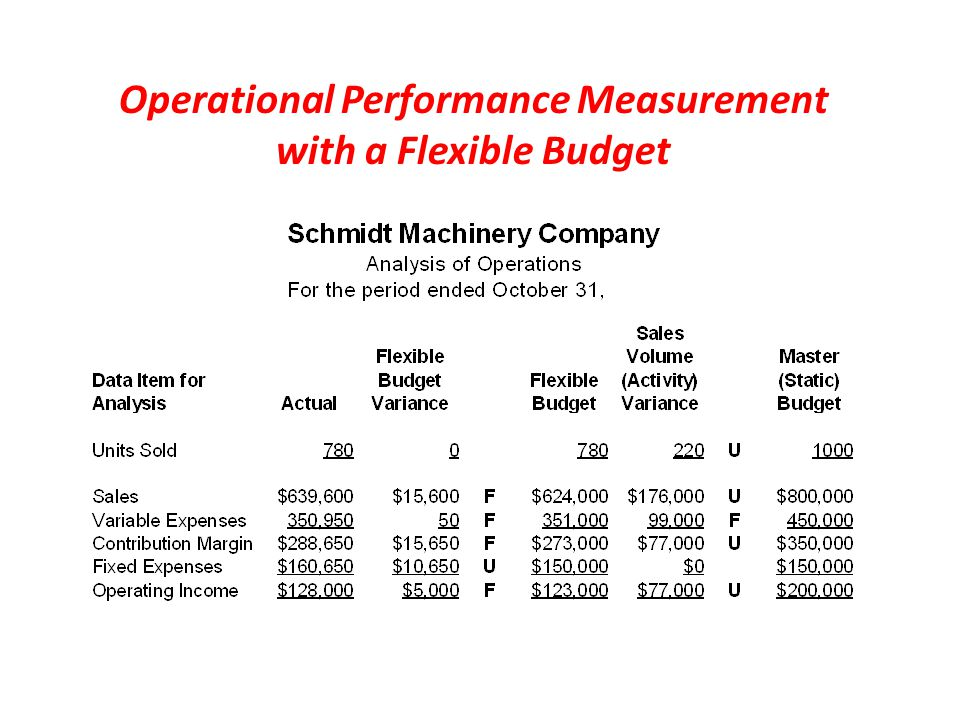 Operational Performance Measurement with a Flexible Budget
