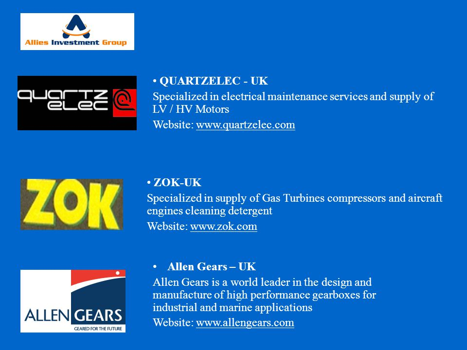 QUARTZELEC - UK Specialized in electrical maintenance services and supply of LV / HV Motors. Website: www.quartzelec.com.