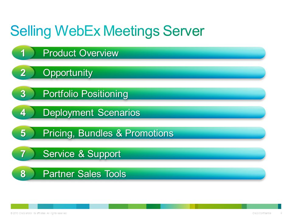 Selling WebEx Meetings Server
