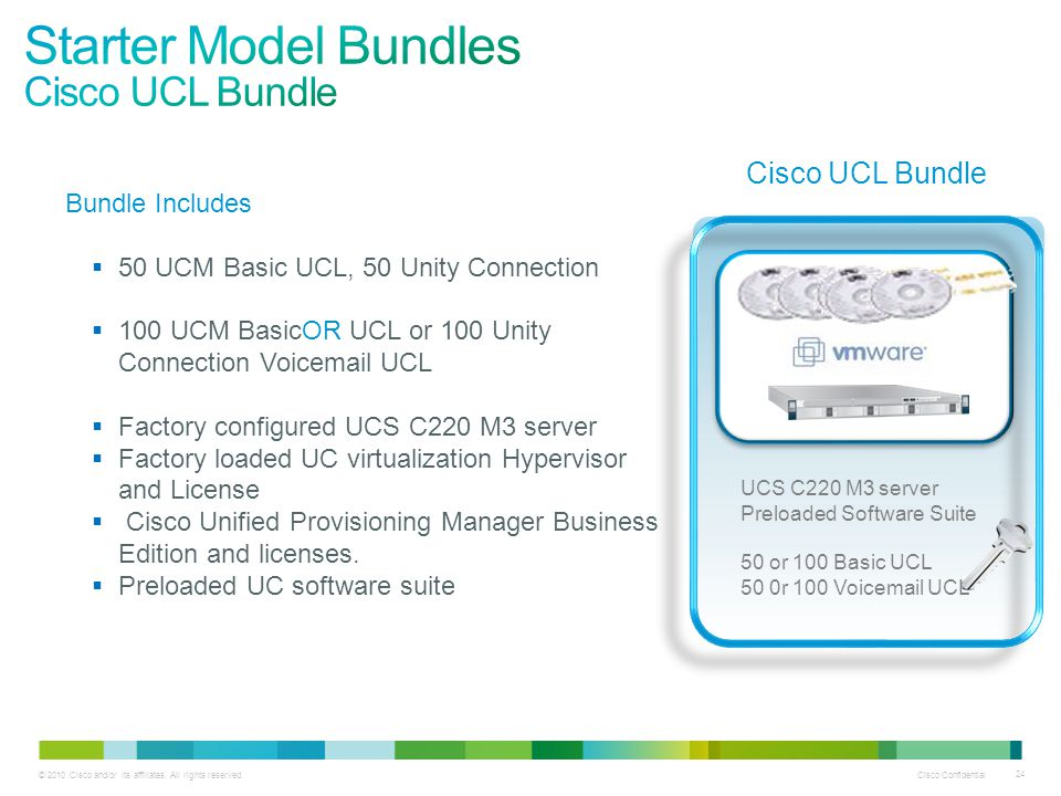 Starter Model Bundles Cisco UCL Bundle Cisco UCL Bundle