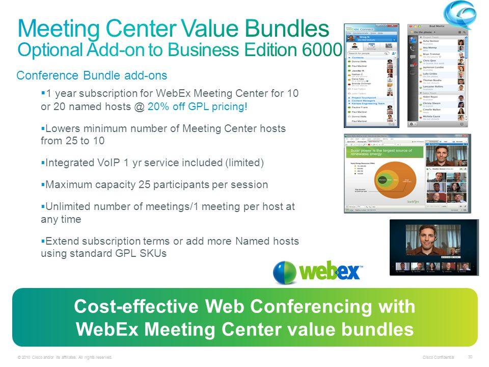 Meeting Center Value Bundles