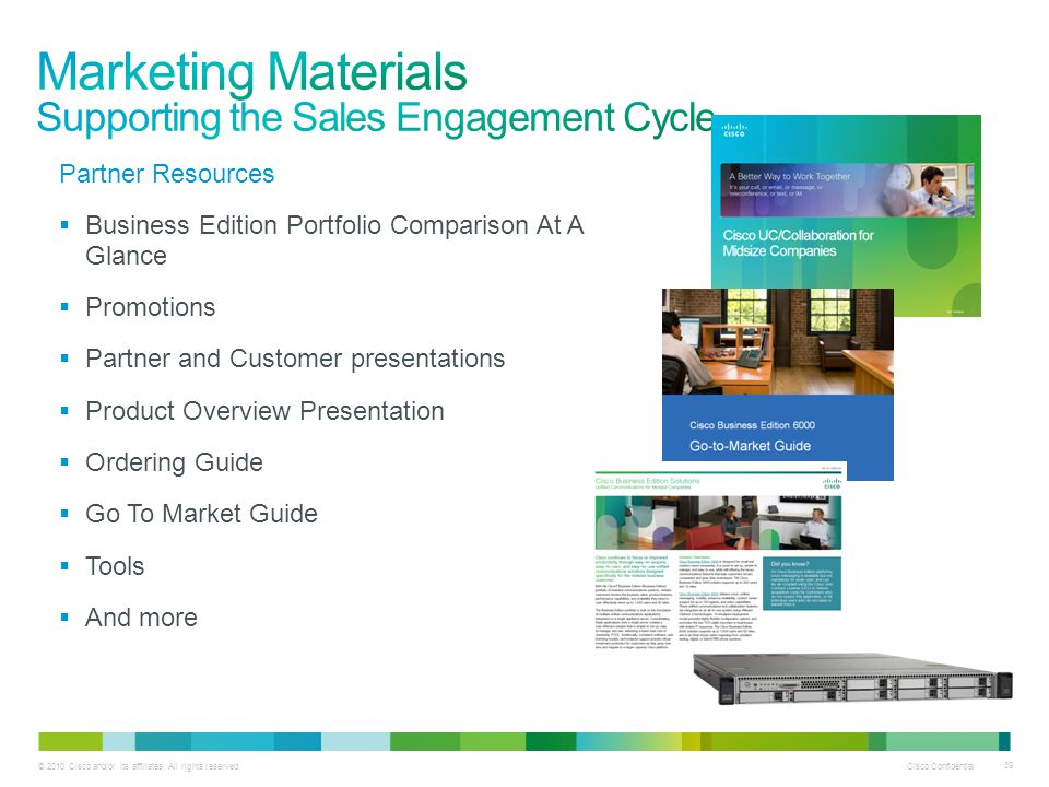 Marketing Materials Supporting the Sales Engagement Cycle