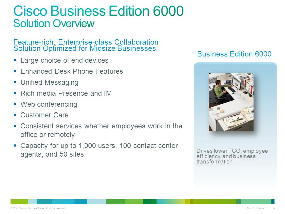 Cisco Business Edition 6000 Solution Overview