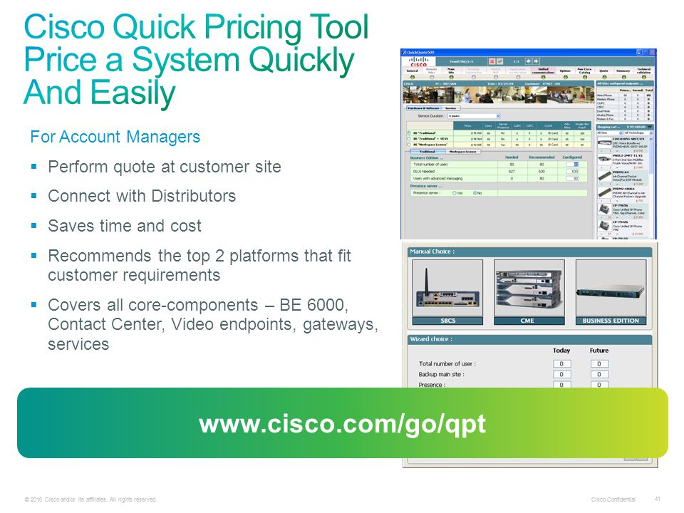 Cisco Quick Pricing Tool Price a System Quickly And Easily