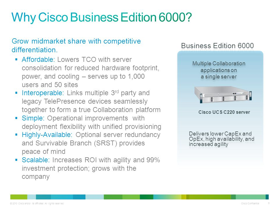 Why Cisco Business Edition 6000