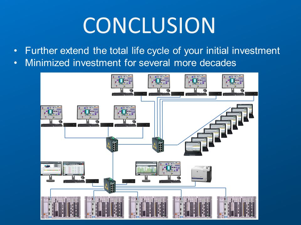 CONCLUSION Further extend the total life cycle of your initial investment.