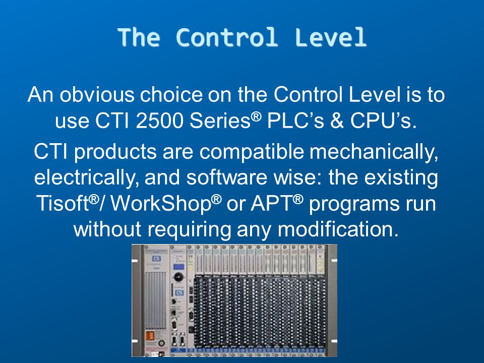 The Control Level