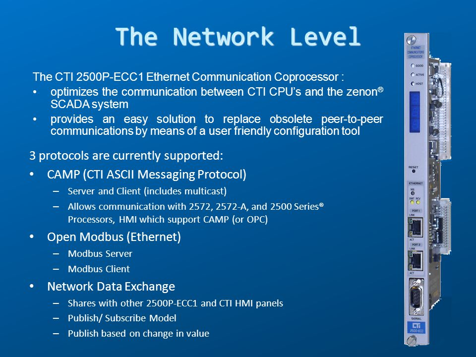 The Network Level 3 protocols are currently supported: