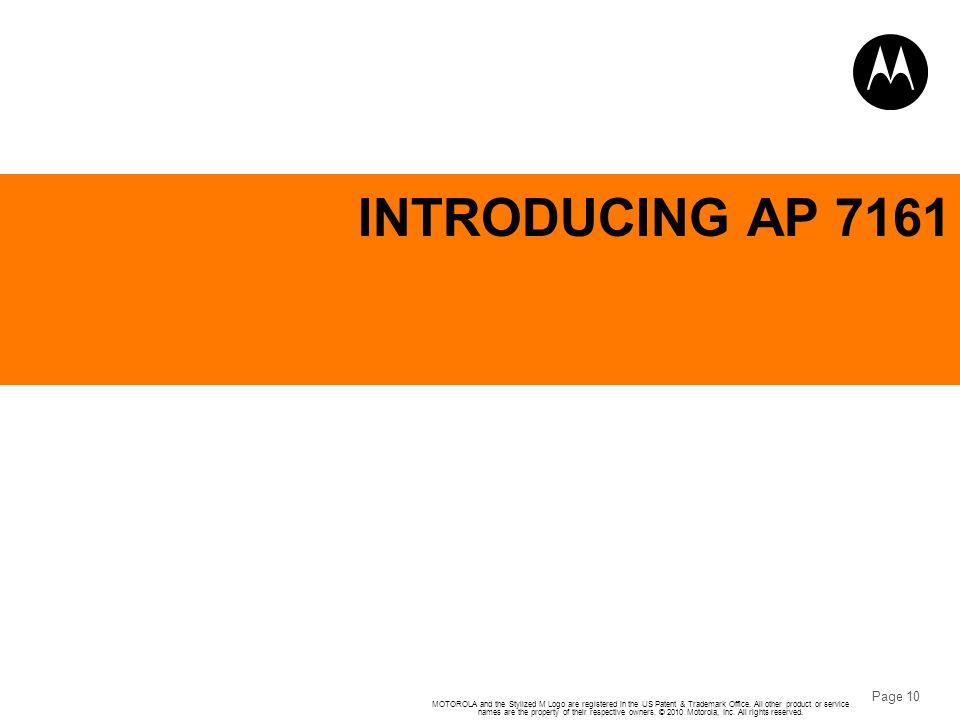 INTRODUCING AP 7161