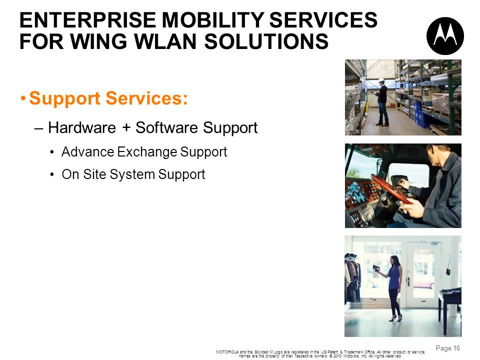 ENTERPRISE MOBILITY SERVICES FOR WING WLAN SOLUTIONS