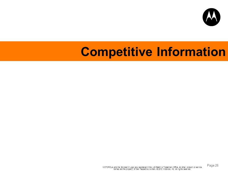 Competitive Information