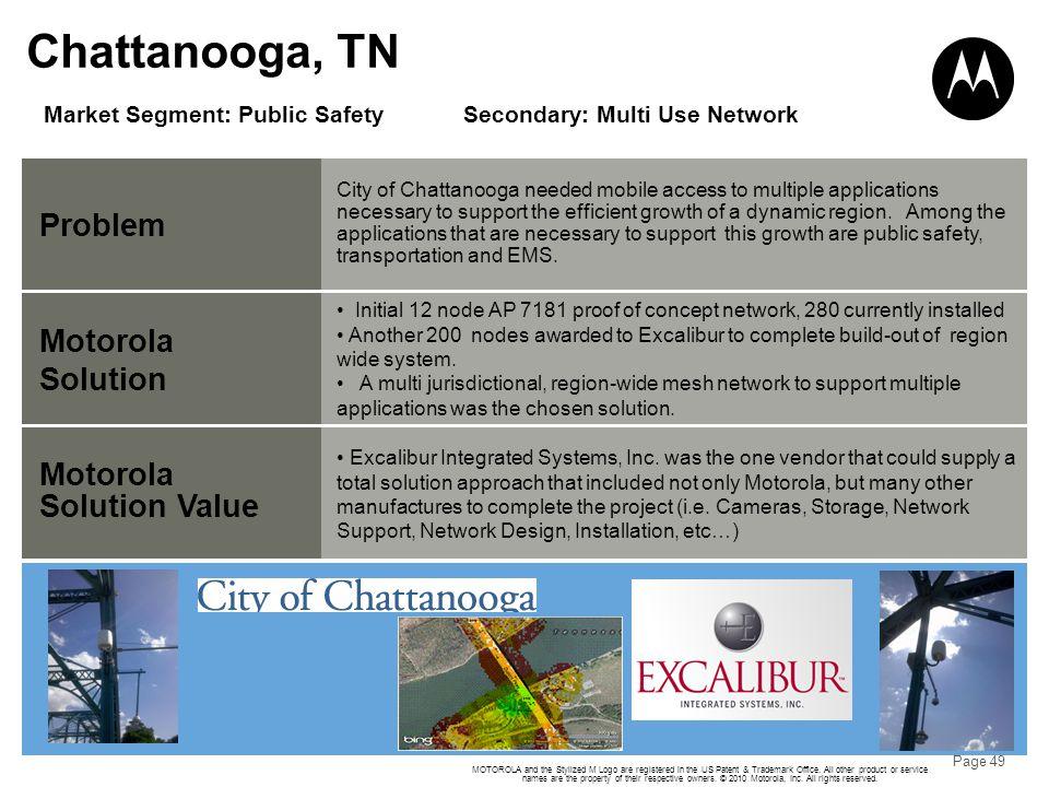 Chattanooga, TN Problem Motorola Solution Motorola Solution Value