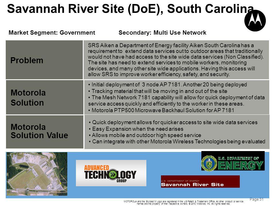 Savannah River Site (DoE), South Carolina