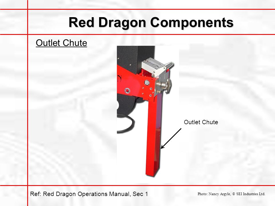 Red Dragon Components Outlet Chute Outlet Chute