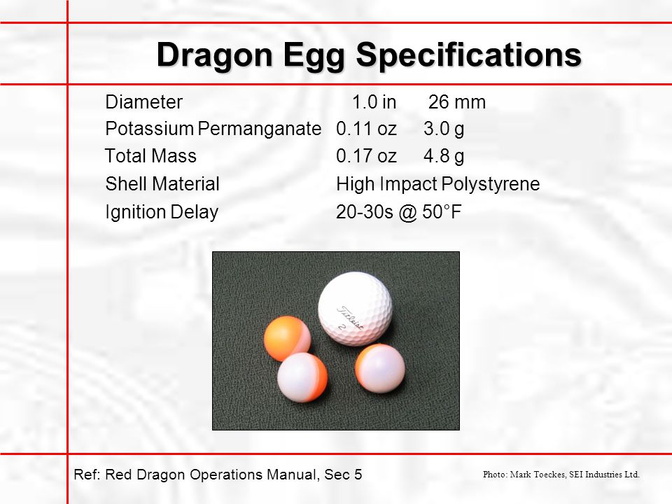 Dragon Egg Specifications
